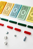 Monopoly board game in play Stock Photo