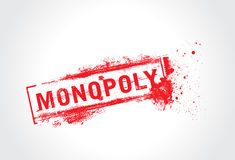 Monopoly grunge text Stock Images