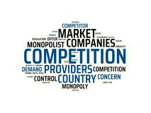 MONOPOLY - image with words associated with the topic MONOPOLY, word cloud, cube, letter, image, illustration Stock Image