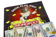 Monopoly sweepstakes cash money isolated Stock Image