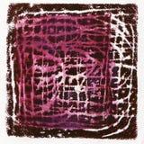 Monoprint acrílico abstrato Imagens de Stock Royalty Free
