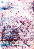 monoprint watercolour Στοκ Εικόνα