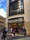 Monoprix-Abteilungsspeicher Lizenzfreie Stockfotografie
