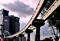 Monorail à Kuala Lumpur Photographie stock libre de droits