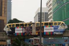 Monorail à Kuala Lumpur, Malaisie Image stock