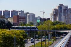 Monorail à Moscou Photos libres de droits