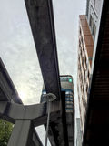 Monorail à Seattle Images libres de droits