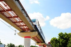 Monorail. High Speed Monorail Train In Moscow, Russia Stock Photography