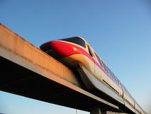 Monorail. Highway in the sky Stock Image