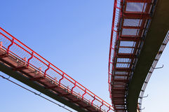 Monorail. On background blue sky Royalty Free Stock Images