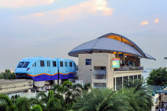 Monorail aan Sentosa royalty-vrije stock foto