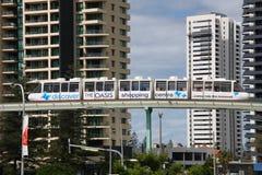 Monorail de Gold Coast Image stock