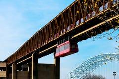 Monorail de Memphis Photographie stock libre de droits