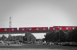 Monorail docklands light railway Royalty Free Stock Photos