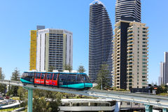 Monorail en Gold Coast photos libres de droits