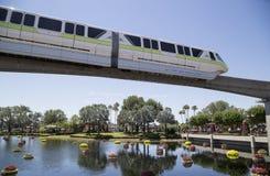 Monorail at EPCOT Center, Disney World, Florida. Monorail train over lake at EPCOT Center in Disney World, Kissimmee, Florida Stock Photography
