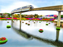 Monorail - Epcot International Flower and Garden Festival 2016. Monorail - Disney transportation - Epcot International Flower and Garden Festival 2016 Royalty Free Stock Images