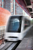 Monorail fast train on railway Stock Photos