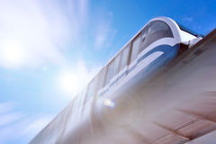 Monorail. Fast train on railway Stock Images