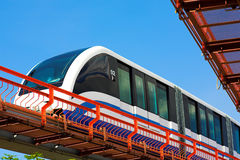Monorail fast train on railway Royalty Free Stock Photography