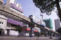 Monorail. Fast train on railway, Kuala Lumpur Royalty Free Stock Images