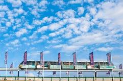 Monorail historique de Sydney sur le pont de Pyrmont Photo stock