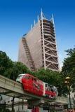 Monorail Kuala Lumpur. Red monorail train in Kuala Lumpur stock photography