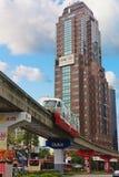 Monorail Kuala Lumpur. Red monorail train in Kuala Lumpur Royalty Free Stock Images