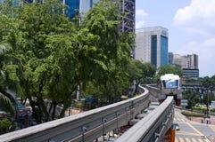 Monorail  in Kuala Lumpur, Malaysia. Stock Image