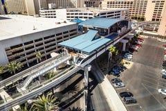 Monorail Las Vegas Nevada stock photo