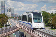 Monorail in Moscow Stock Photos