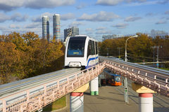 The monorail in Moscow Royalty Free Stock Photography