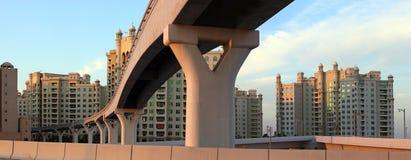 Monorail on Palm Jumeirah, Dubai, UAE Royalty Free Stock Photo