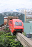 Monorail in Sentosa-eiland Singapore Royalty-vrije Stock Foto's