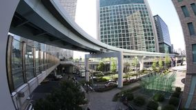 Monorail in Shiodome stock video