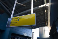 Monorail Signage. Signage in monorail staion in Las Vegas Royalty Free Stock Photos