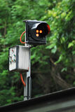 Monorail Signal Lights Royalty Free Stock Photo