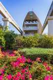 Monorail station on a man-made island Palm Jumeirah Royalty Free Stock Images