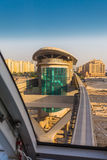 Monorail station on a man-made island Palm Jumeirah Stock Image