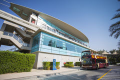 Monorail station on a man-made island Palm Jumeirah Stock Photos