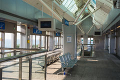 Monorail station on a man-made island Palm Jumeirah Stock Photo