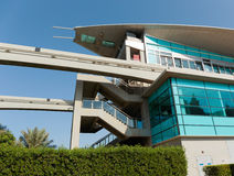 Monorail station at the Palm Jumeirah in Dubai Stock Image