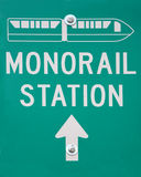 Monorail station road sign Stock Photos