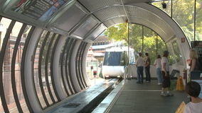 Monorail at station stock video footage