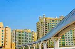 Monorail sur la paume Jumeirah Photos libres de droits