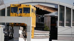 Monorail terminal station stock video