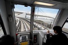 Monorail, Tokyo, Japan. Pictures taken in Tokyo in 2005 near Daiba metro station Royalty Free Stock Photos