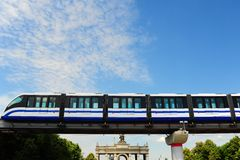 Monorail Train. High Speed Monorail Train In Moscow, Russia Royalty Free Stock Photo