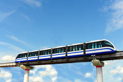 Monorail Train. High Speed Monorail Train In Moscow, Russia Royalty Free Stock Photography