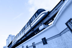 Monorail train. High speed monorail train on the overpass Stock Images